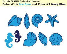 Shell Decals for the sink, toilet, shower, tiles...whatever!  Other tropical designs as well!