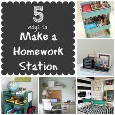 5 Awesome Homework Station Ideas