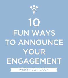 weddings creative ways announce engagement social media