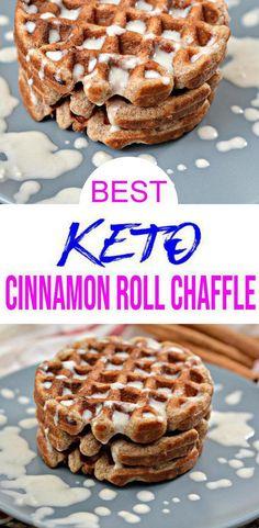 Mini Waffle Recipe, Waffle Maker Recipes, Low Carb Desserts, Low Carb Recipes, Dash Recipe, Keto Chocolate Chip Cookies, Keto Cookies, Keto Cinnamon Rolls, Cinnamon Roll Waffles