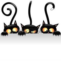 Illustration of Funny Fierce Black Cat Cartoon vector art, clipart and stock vectors. Cat Background, Funny Cat Photos, Cat Vector, Cat Clipart, Vector Free, Cat Pillow, Throw Pillow, Cat Stickers, Halloween Cat