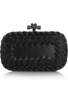 Bottega Veneta | Intrecciato-trim leather knot clutch | NET-A-PORTER.COM