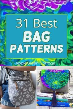 Duffle Bag Patterns, Messenger Bag Patterns, Handbag Patterns, Bag Patterns To Sew, Sewing Patterns Free, Free Sewing, Easy Sewing Projects, Sewing Tutorials, Bag Tutorials