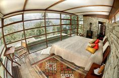 Shakti 360 Leti - Uttaranchal region, India. These four solar-powered, stone-and- glass cottages have sweeping views over the Himalayas and come with wood-burning stoves and pashmina-draped beds.