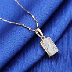 New arrival necklace 18 karat gold platinum plated engagement pendant amp necklace Jewelry Necklaces