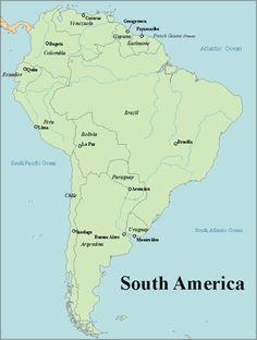 Blank South America Map Printable Maps Pinterest South