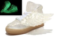 Adidas ObyO Jeremy Scott Wings Points Glow In The Dark Shoes