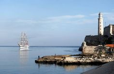 Carnival Corporation's fathom brand has received U.S. approval to sail to Cuba. In this recent photo, Venezuela's Simon Bolivar school sailing ship sails to Havana Harbor where the Morro Cabana fortress lighthouse stands in Havana, Cuba.