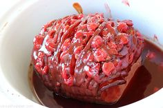 The Best Slow Cooker Cherry Ham - CincyShopper Ham Glaze, Best Slow Cooker, Ham Recipes, Cherry, Thanksgiving, Good Things, Cooking, Kitchen, Thanksgiving Tree