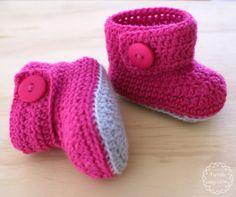 Botitas * Crochet * Bebe * tiendadealgodon@gmail.com