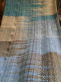 Love the brown & blue for table runner