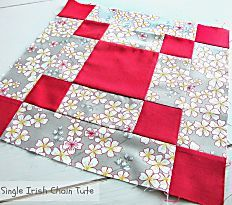 The Bold and Beautiful Irish Chain Quilt Block is easily one of the most striking Irish chain quilt patterns you& see today. This single Irish chain quilt block is simple, but stunning. There is no end to what kind of creative projects you can make Quilting Tutorials, Quilting Projects, Quilting Designs, Quilting Ideas, Sewing Projects, Sewing Tutorials, Sewing Ideas, Sewing Crafts, Quilt Block Patterns