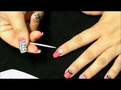 HOT PINK ZEBRA NAILS (with SENSATIONAIL) - YouTube