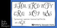 Janda Stylish Monogram Font | dafont.com