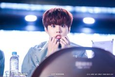 160501 UP10TION Wonju FansigningWooshinCr:  우리신이  Do not edit
