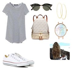 """Cute summer outfit"" by katelinbullock on Polyvore featuring Converse, Ray-Ban, Michael Kors and Lana"