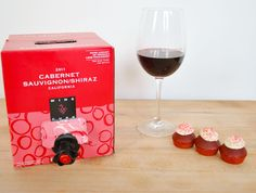 Delicious Cabernet from Target paired with Batter Co. Cupcake Red Velvet