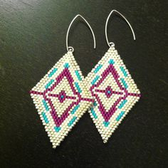Pixelated Diamond Earrings - Beyond Buckskin Boutique
