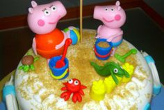 Tarta Peppa Pig 2   De Perla's   Tartas fondant personalizadas en Málaga