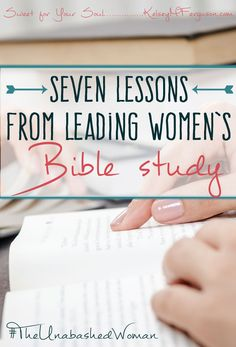 7 Lessons from Leading Women's Bible Study If you have ever considered leading a women's Bible study, then this post is for you. One woman shares how God used her to put together and head a women's Bible study at her church. Bible Study Plans, Bible Study Tips, Scripture Study, Bible Lessons, Bible Verses, Bible Bible, Scriptures, Bible Quotes, Small Group Bible Studies