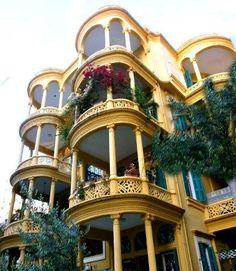 Clemanceau, Beirut. Lebanon, beautiful old apartment bldg.