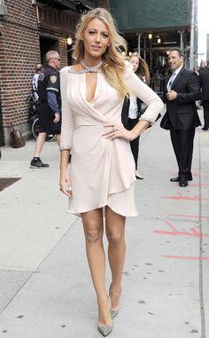 @roressclothes closet ideas #women fashion outfit #clothing style apparel Blake Lively White Wrap Dress