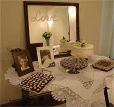 Mesa de doces simples