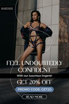 """You don't need to wait for the right moment to feel confident. Choose from our premium selection of signature lingerie that will fit every personality -- from audacious designs to minimalist, yet captivating. Get 20% OFF on all products if you SHOP NOW! Simply use the promo code """"Get20"""". We know that building confidence is a journey for each individual. Discover our thoughts and tips on how to be unapologetically confident wearing just lingerie. Click below. #mariemur Like A Rock, Leather Lingerie, Playroom Design, Word Of Mouth, Confidence Building, Leather Accessories, Lingerie Set, Kinky, Two Piece Skirt Set"""
