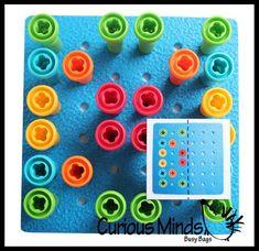 Résolution de problèmes motif assorti au sac occupé avec | Etsy Pattern Matching, Busy Bags, Card Patterns, Toddler Preschool, Problem Solving, Pattern Fashion, Card Stock, Etsy, Squares