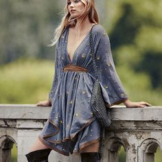 """""""Love the ones who understand you and forget the ones that don't.""""  ― Nikki Rowe  fashion dress women boho dress high quality embroidered sequined mini sexy summer bohemian hippie chic vestidos women clothing"""