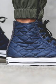 Quilted Nylon CONVERSE All-Star Hi Navy