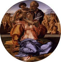 Michelangelo, tondo doni, 1506-1508, tempera su tavola, Italia