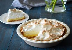 TESTED & PERFECTED RECIPE - With a graham cracker crust and sweetened condensed milk filling, this easy lemon meringue pie comes together quickly.