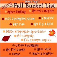 2013 Fall Bucket List! [Skinny Piggy]