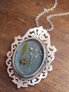 Victorian+framed+worship+of+nature+necklace++by+AThousandJoys,+$425.00
