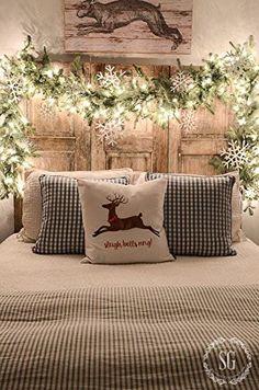 Jouluvalot sängynpäätyyn