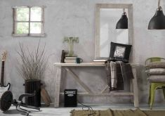 Tables style vintage: modèle ARYA naturel.