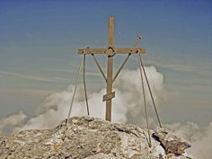 The Cross on the top of the Holy Mountain,  Mt. Athos,  Halkidiki,  Macedonia,  Greece