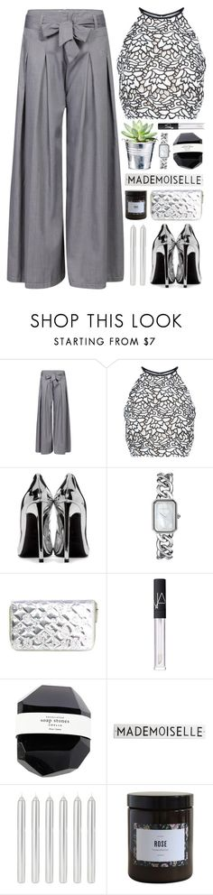 """""""Elegant Monochrome"""" by lover-of-pie ❤ liked on Polyvore featuring Keepsake the Label, Yves Saint Laurent, CO, Chanel, NARS Cosmetics, Rosanna and Marie Jeanne"""
