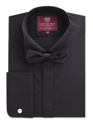 Black Wing Shirt And Bow Tie