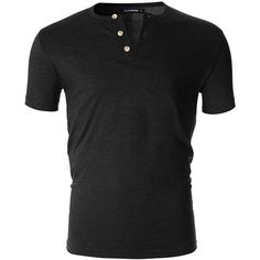 FLATSEVEN Men's Casual Short Sleeve Henley Shirt with Button ($20) ❤ liked on Polyvore featuring men's fashion, men's clothing, men's shirts, men's casual shirts, mens short sleeve button down casual shirts, mens casual short-sleeve button-down shirts, mens short sleeve henley shirt and mens casual button down shirts