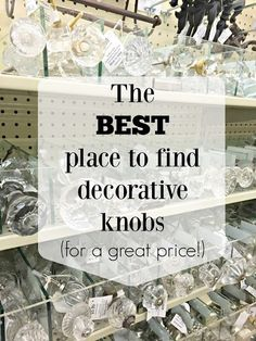 best place for decorative knobs and handles