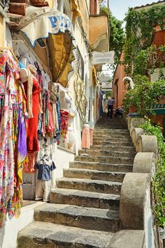 Positano, Italy. Better make sure my knees are in order before the wedding :/