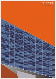 Architecture poster by Andre Chiote. Schmidt Hammer Lassen - The Crystal.