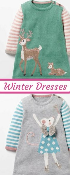 This dress was made for chilly afternoons. The cashmere-blend yarn makes this design extra special.     Fashion   Clothes   Outfits   Girls   Toddler   Dresses   Winter   Fall   Warm   Cute   Girly   Adorable  