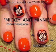mickey and minnie mouse disney nail art  http://www.youtube.com/watch?v=TvmrdKUqzrw