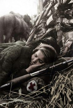 """In Soviet Union women participating in WWII were erased from history, remaining as the occasional anecdote of a female sniper or simply as medical staff or, at best, radio specialists. The word """"front-line girl"""" (frontovichka) became a terrible. Women In History, World History, Foto Portrait, Vintage Nurse, Red Army, Interesting History, Military History, World War Two, Historical Photos"""