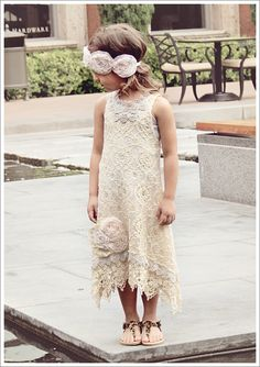 Lace Dress and Ruffled Rose Headband. http://whathappensnext.typepad.com/what_happens_next/2012/09/what-stella-wore-roses-and-lace.html