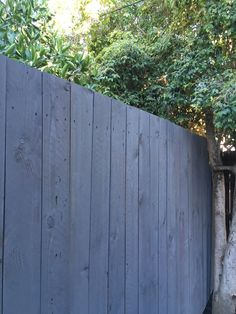 Wood Wash in a custom color on cedar fencing - Modern Design | 1000#cedar #color #custom #design #fencing #modern #wash #wood Staining Wood Fence, Wood Design, Modern Design, Custom Design, Blue Fence, Privacy Fence Designs, Timber Fencing, Bleached Wood, Old Fences