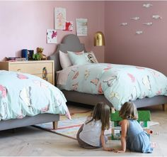 Butterfly Robin's Egg Duvet Set from Dwell Studio - so want it for Paloma's room!!!!